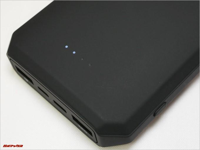 Tronsmart Edge 20000のバッテリー残量表示は4段階での表示でした
