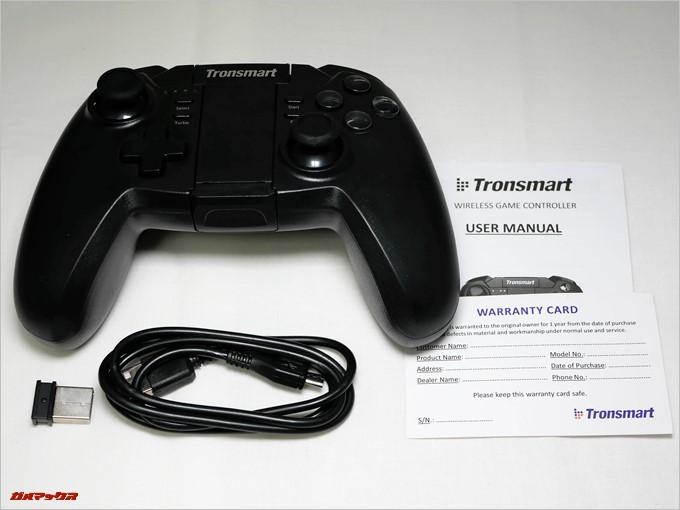Tronsmart Mars G02はPCなどでも無線接続するためのUSBドングルまで付属していました