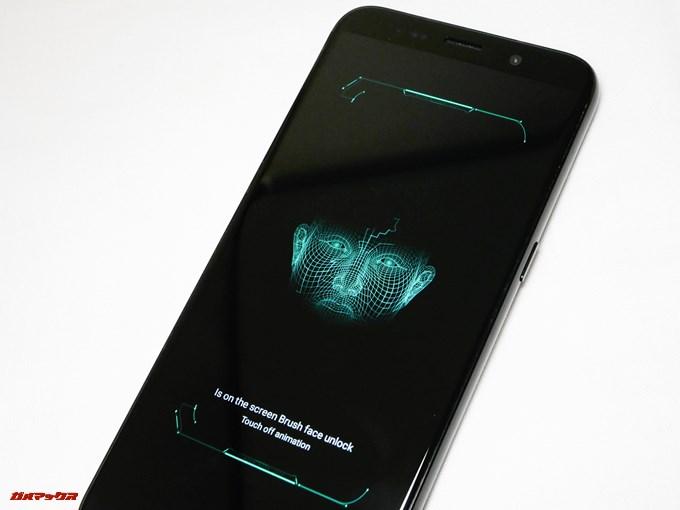 UHANS i8は顔認証機能が着いています。