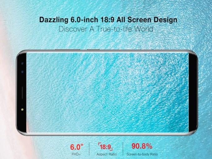 Ulefone Power 3は流行りの18:9ディスプレイを採用