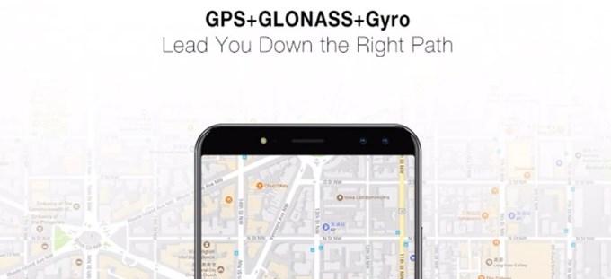 Ulefone Power 3はロシア版のGPSも利用できるので位置情報の精度が高いです。