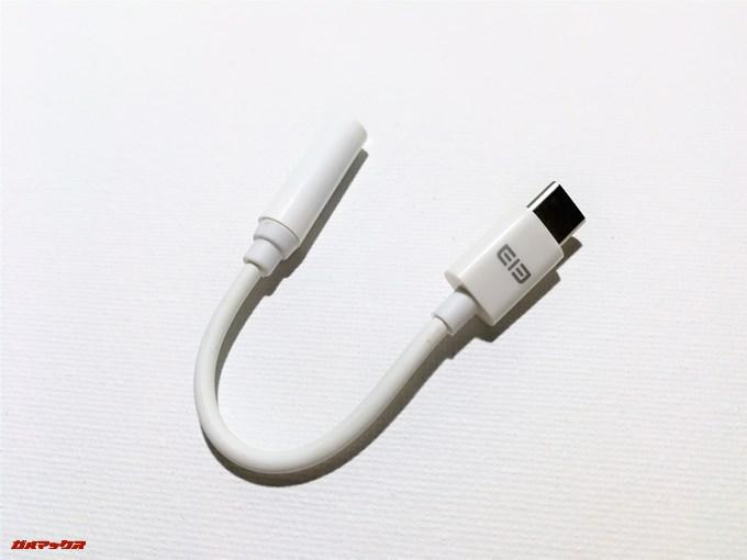 Elephone S8は流行りのイヤホンジャック廃止モデルなので変換アダプターが付属していました。