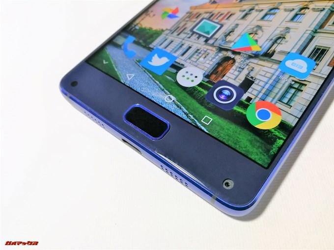 Elephone S8のホームボタンは画面の下部に設置されています。