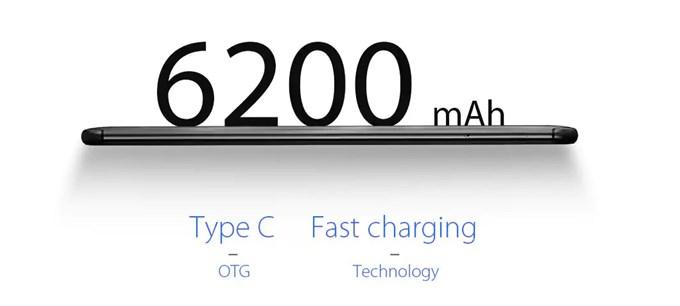 Vernee Xは6200mAhのモバイルバッテリー級の搭載量を誇ります。