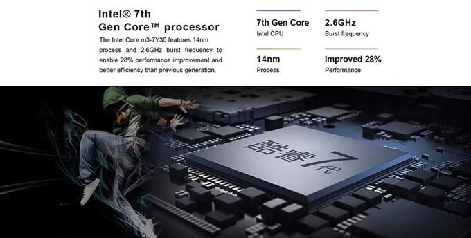 Teclast F6 Pro Notebookは7世代のCore m3を搭載