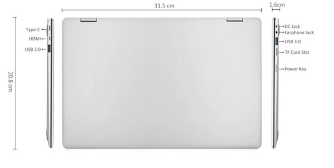 Teclast F6 Pro Notebookは薄くカバンに入れてもかさばりません