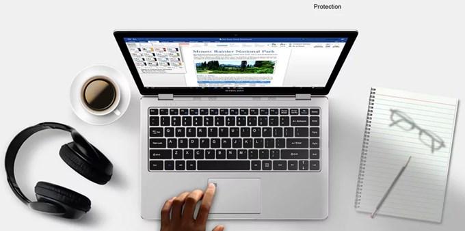 Teclast F6 Pro Notebookは簡単に指紋でログオン出来る指紋認証が備わっています