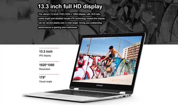 Teclast F6 Pro NotebookはFHDのIPSパネルを採用