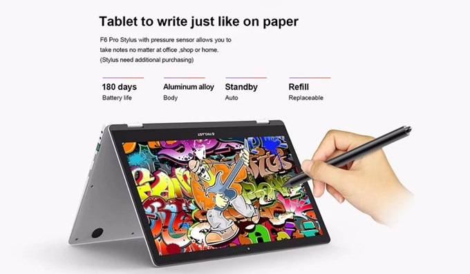 Teclast F6 Pro Notebookはスタイラスペンに対応しているのでお絵かきもバッチリ