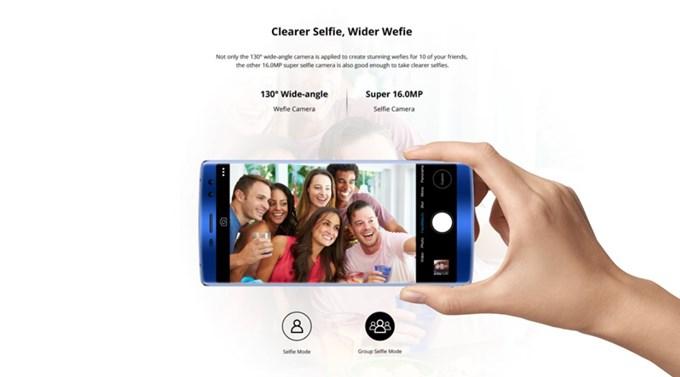 DOOGEE BL12000 Proのインカメラは広い範囲を捉える事のできる広角レンズを搭載したダブルレンズカメラを採用しています。