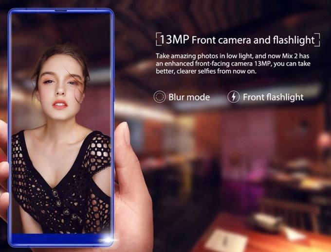 OUKITEL MIX 2はインカメラでもボケ味撮影が可能となってます