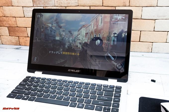 Teclast F6 Proはモバイル向けのゲームはサクサク動きますモダンコンバットもグラフィック高設定で快適に遊べます。