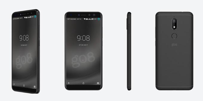 gooスマホ「g08」のブラック