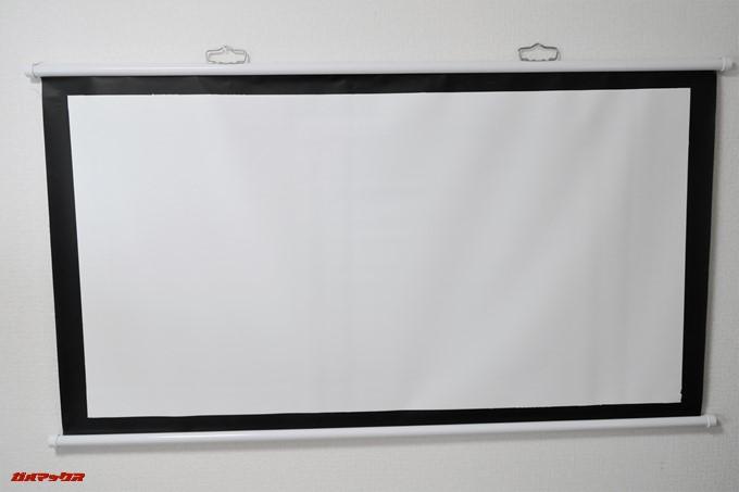 JMGO M6 Portable DLP Projector様に購入した60インチスクリーン