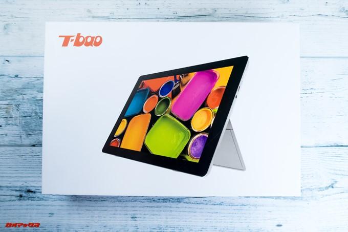 T-bao X101Aの外箱には大きく製品写真がプリントされています。
