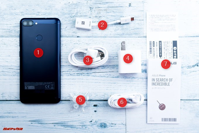 ZenFone Max Plus (M1)の同梱物には保護系アクセサリーが付属していません