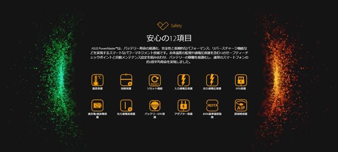 ZenFone Max Plus (M1)は12の項目からなるバッテリーコントロールでバッテリー寿命が2倍に向上しました