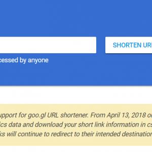 Googleの短縮URLサービス、2019年3月で終了