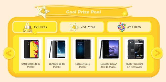 GEARBESTの4周年セールの抽選会ではスマートフォンが無料で当たるかも!