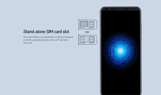 CUBOT X18 PlusのSIMスロットはスロット2がMicroSDと共用なのでDSDSを利用するとMicroSDが使えないというデメリットおもあります