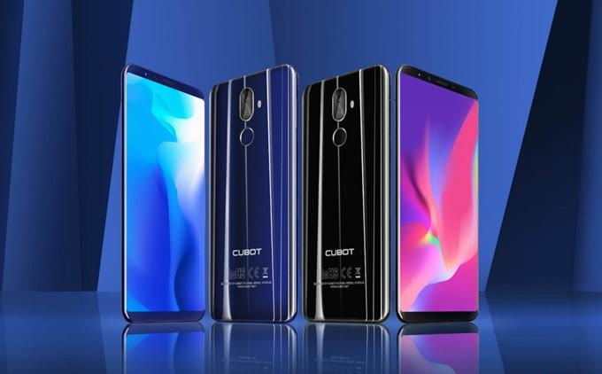 CUBOT X18 Plusはブラックとブルーの2色から選択可能です。