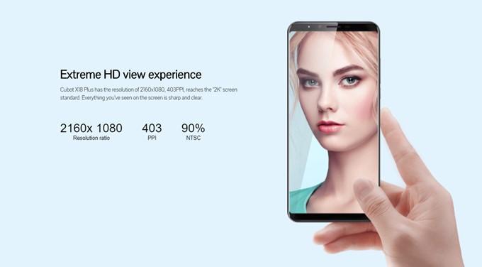 CUBOT X18 Plusは安価ながら高解像度のFHD+を採用しているので、美しい描写が楽しめます