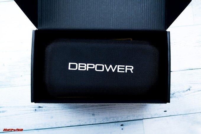 DBPOWER 4K 620C外箱を開けるとハードケースが出てきます。