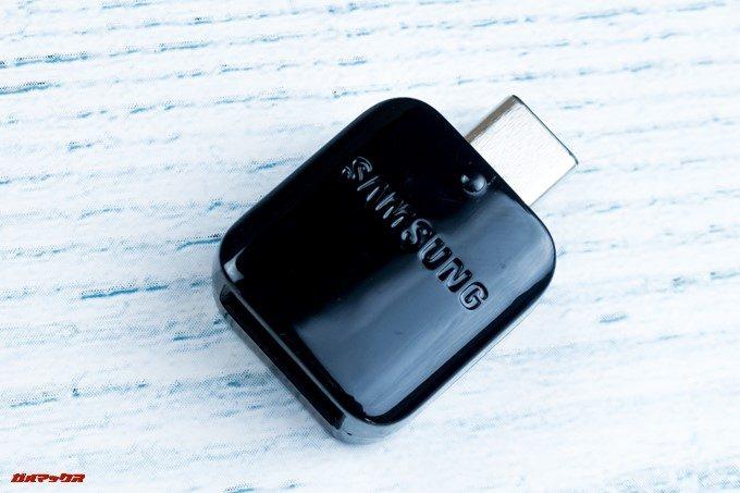 Galaxy S9とGalaxy S9の海外版にはUSB-A接続の機器が利用できる変換アダプターが同梱されています。