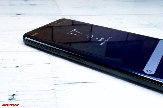 Galaxy S9とS9+の画面左側面にはBIXBIボタンが備わっています。