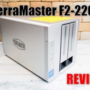 TerraMaster F2-220のレビューと使い方!簡単にオンラインストレージを構築!