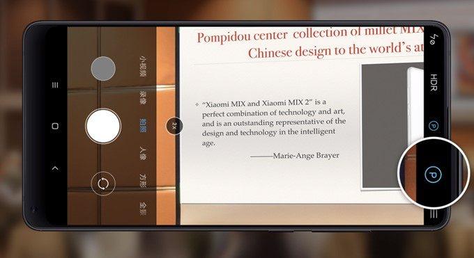Xiaomi Mi Mix 2SのAIで超解像度合成することで滲んだ文字もクッキリ処理。