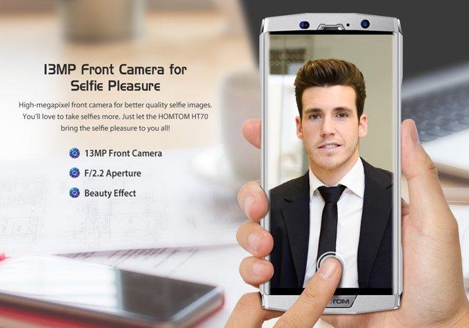HOMTOM HT70のインカメラは1300万画素相当のカメラを搭載!