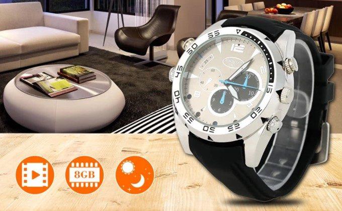 FHD撮影対応!腕時計型スパイカメラが21.99ドル!