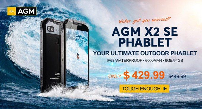 AGM X2 SEは4月15日まで発売記念キャンペーン中!20ドルも安く購入できるので欲しい方はポチッときましょう!