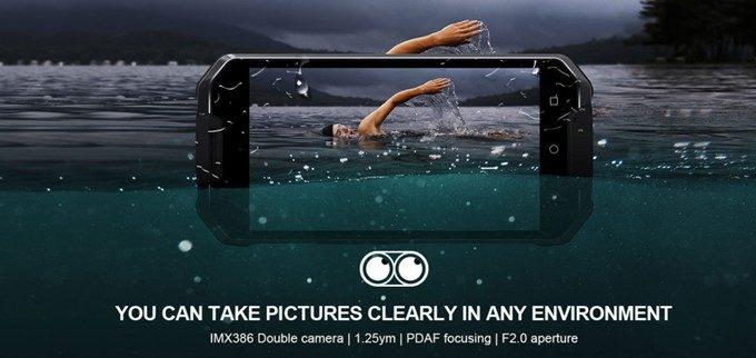 AGM X2 SEはSONYセンサーの1200万画素ダブルレンズカメラを備えています。