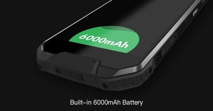 AGM X2 SEはモバイルバッテリー並の6000mAhバッテリーを搭載しています。
