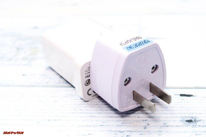 HUAWEI P20 Pro/P20のグローバルモデルに付属している充電器を利用するにはプラグ変換アダプターが必要です。