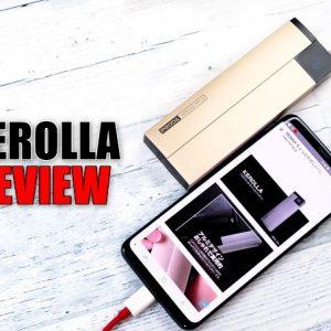 KEROLLA 10000mAhモバイルバッテリーのレビュー!小さい!残量表示が便利!