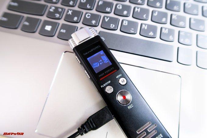 SoundPEATS Nano6はPCに接続すると中のデータにアクセス可能です。