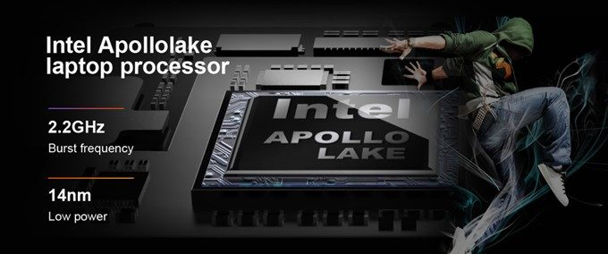 Teclast F7はN3450の高性能なCPUを搭載!
