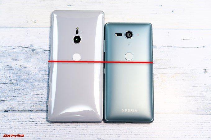 Xperia XZ2とXZ2 Compactの指紋認証の位置はほとんど同じ位置で使い勝手は大きく変わりません。