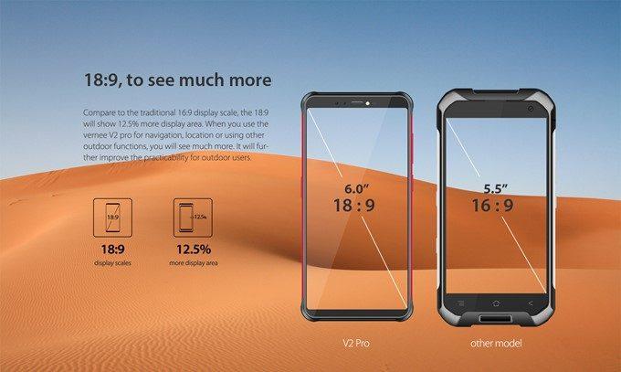 Vernee V2 Proは従来の5.5型サイズでやく6インチの大画面サイズが利用できます!