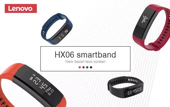 Lenovo HX06 Smart Braceletは4種類のカラーから選択可能です。