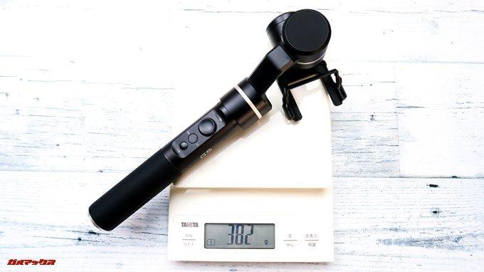 Feiyu Tech G5の重量は約382gです。