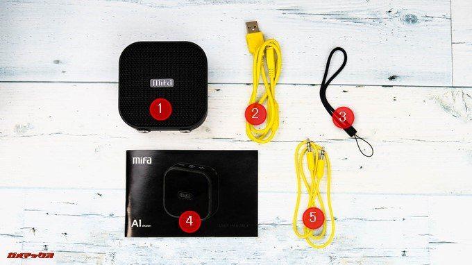 MIFA A1は安価ですが付属品は沢山付属しているので魅力的です。