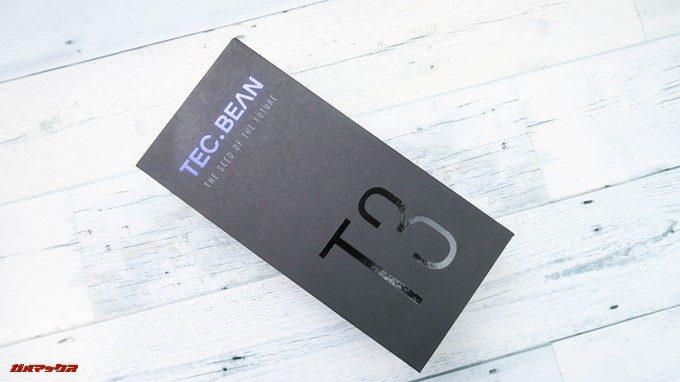 TEC.BEAN T3はブラックの専用ボックスに入っています。