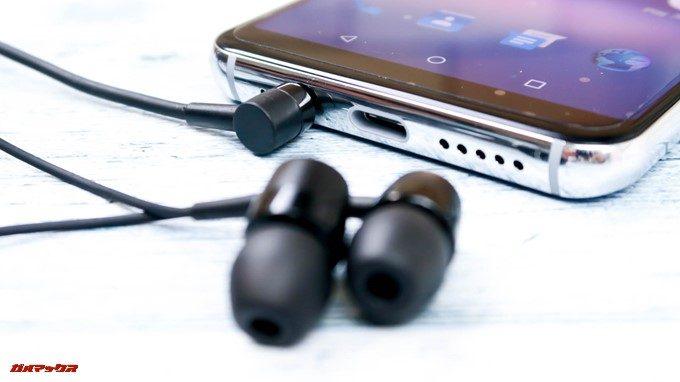UMIDIGI A1 Proはイヤホン端子も搭載しています。