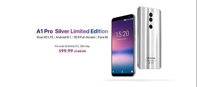 UMIDIGI A1 Proの限定色。MoonLight Silver。