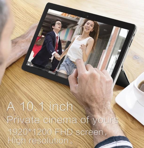 VOYO i8 Maxは10.1型のディスプレイに1920×1200の高解像度パネルを採用しています。