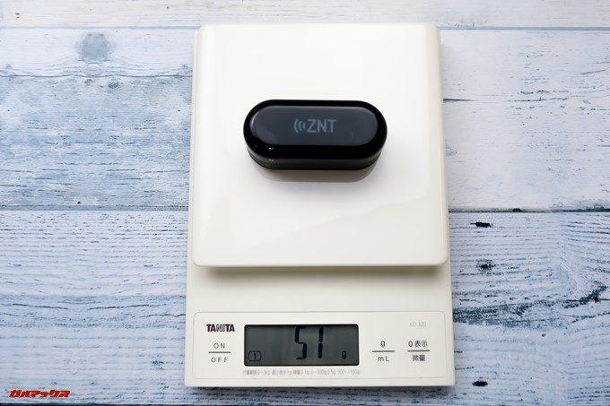 ZNT AirFits Iのケースの重量も軽量なので持ち運びやすいです。